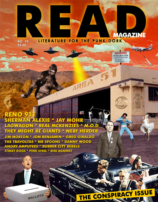 Read Magazine - Conspiracy Theory Issue Cover